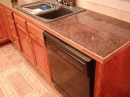granite tile countertop design