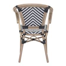 paris dining arm chair black white