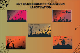 Almost files can be used for commercial. Halloween Background Bundle Set Graphic By Optimasipemetaanlokal Creative Fabrica