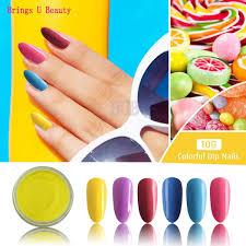 senarai harga 10g box very fine 6 in 1 shine yellow pink purple nail dipping powder easy operate natural dry diy dip powder without lamp cure terbaru di