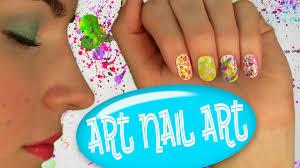 Art Nail Art! Nail Tutorial for 5 Easy Nail Art Designs. No Tools! - YouTube
