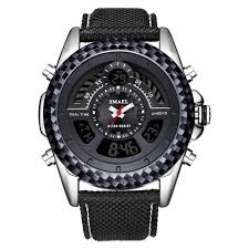 HobbyLane <b>SMAEL</b> 1369 <b>Men's Double</b> Display Electronic Watch ...