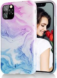 Amazon.com: iPhone 11 Pro Max 6.5 inch Case,Pink Blue Marble Case,Slim Soft  Flexible TPU Marble Pattern Cover for Apple iPhone 11 Pro Max 6.5