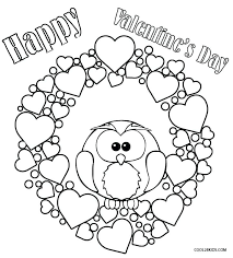 Cute Valentines Day Coloring Pages Free Valentine Color Animals