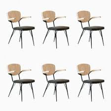 vintage italian barcelona style dining. Vintage Italian Dining Or Conference Armchairs, 1950s, Set Of 6 Barcelona Style