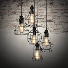 interesting lighting. industrial chandelier with iron shades and brick wall plus concrete floorign for interior design ideas interesting lighting f