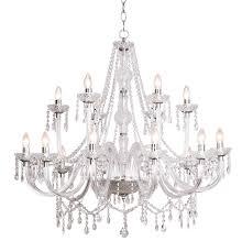 katie 18 light polished chrome crystal chandelier