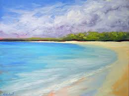 seascape painting the best beach by kristina wentzell