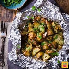 easy foil pack potatoes on the grill or