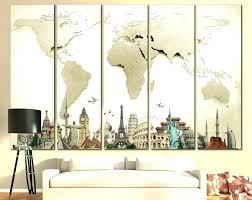 horizontal wall art wooden