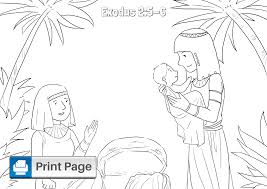 Printable coloring pages for kids and adults. Free Baby Moses Coloring Pages For Kids Printable Pdfs Connectus