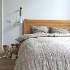 washed linen natural duvet cover