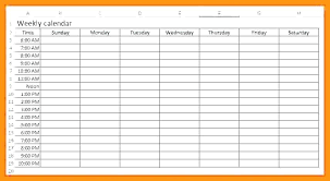 Week Planner With Times Timetable Templates Free Sample Example Format Free