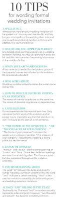 10 Tips For Wording Formal Wedding Invitations Invitations