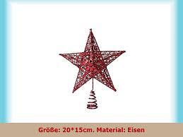 Lukis Weihnachtsstern Weihnachtsbaum Christbaumspitze Schmuck Deko 2015cm Rot