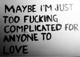 Complicated Love Quotes Simple Complicated Fucing Life Love Quote Inspiring Picture On Favim