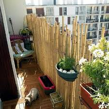 Bamboo balcony privacy screen  ideas with plants, carpets and bars