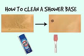 how to clean a fiberglass shower base you