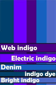 ... to this color. As a result, the meaning of the word blue shifted from  sky blue to modern blue. Along the way, the meaning of indigo also  shifted to ...