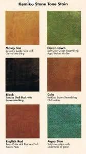 Kemiko Color Chart Acid Stain Colors