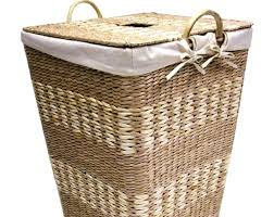 large wood laundry hamper wooden cool wicker with bathrooms stunning lid homes w