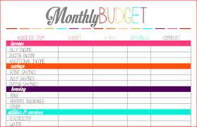 simple printable budget worksheet printable budget worksheet simple blue household budget2 png