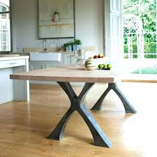 metal table bases wood for dining room tables best legs images on round furniture ikea canada