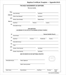 20 Baptism Certificates Sample Templates