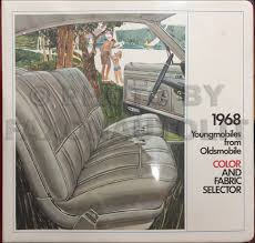 1968 olds cutlass 442 f85 wiring diagram manual reprint 1968 oldsmobile color upholstery dealer album original 499 00