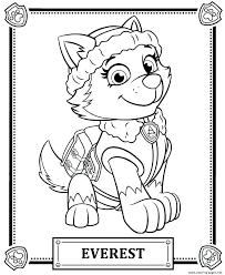 Colouring Pages Paw Patrol Chase Paw Patrol Coloring Pages As Well