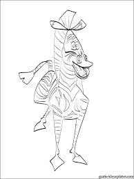Mooie Kleurplaat Zebra Marty Van Madagascar Gratis Kleurplaten
