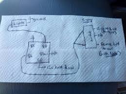 wiring diagram for reverse spotlights wiring image wiring extra reverse lights to switch and preexisting lights on wiring diagram for reverse spotlights