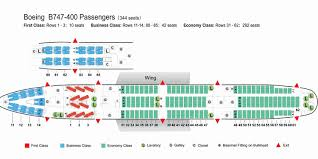 Boeing 747 Seating Chart Air China Airlines Boeing 747 400 Aircraft Seating Chart