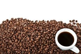 coffee beans background. Simple Background Coffee Beans And Cup Isolated On A White Background  Stock Photo  Colourbox For Beans Background L