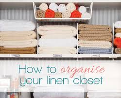 how to organise your linen closet