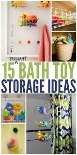 15 brilliant bath toy storage ideas