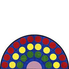 joy carpets 1430hr 01 lots of dots rug 6 7 x 13 2 schoolsin aspiration half sophisticated half round