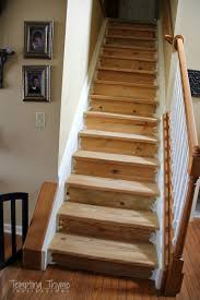 Redo Stairs Cheap 60 Carpet To Hardwood Stair Remodel Hardwood Stairs And Stair
