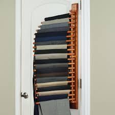 the closet organizing 20 trouser rack hammacher schlemmer intended for pants organizer for closet pants organizer