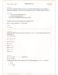 chapter 4 linear equations in two variables part 1