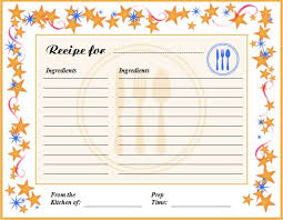 Openoffice Recipe Card Template Creative Professional Cooking Recipe Card Template Word