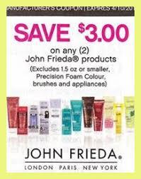 Select john frieda products get $3 ecbs wyb $10 (limit 2) deal suggestion buy (2) collection shampoos or conditioners at $5 use (2) $2/1 john frieda product, exp. John Frieda Hair Color Coupons 7369 John Frieda Precision Foam Colour 99 At Rite Aid Tutorials