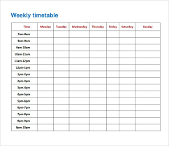 Exam Revision Timetable Template Revision Timetable Template Sample Revision Timetable