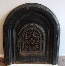 vintage fireplace cover vent grate ornate cast iron arched with metal fireplace cover