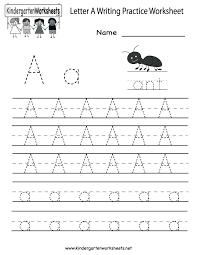 Early Writing Worksheets For Kindergartners Kindergarten To Build ...