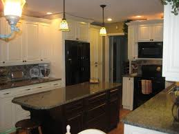 Granite With Cream Cabinets Cream Kitchen Island With Granite Top Quicuacom