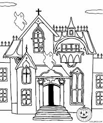 Simple Haunted House Coloring Pages Printable Book Page Chronicles