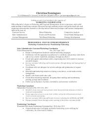 Marketing Job Resume Examples Entry Level Marketing Resume Samples Emelcotest Com