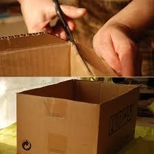 diy cardboard storage box 1