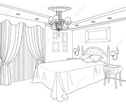 Home halloween coloring christmas coloring football coloring bumble bee cowboy coloring flowers. Bedroom Coloring Page Interior Design Sketches Drawing Interior Drawing Furniture